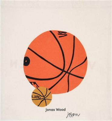 Lot 71 - Jonas Wood (American b.1977), 'Basketball', 2017