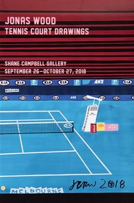 Lot 69 - Jonas Wood (American b.1977), 'Tennis Court Drawings', 2018