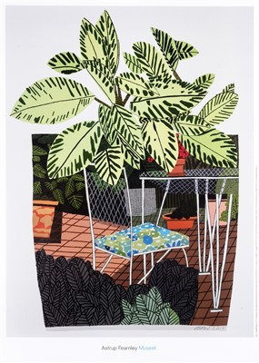 Lot 70 - Jonas Wood 'Landscape Pot With Flower Chair, Large Shelf Still Life & Interiors And Landscapes'