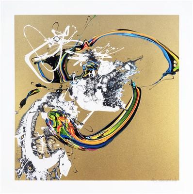 Lot 76 - Katrin Fridriks (Icelandic b.1975), 'Golden Awareness N1', 2012