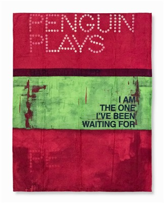 Lot 53 - Harland Miller (British b.1964), 'I Am The One I've Been Waiting For (Beach Towel)', 2013