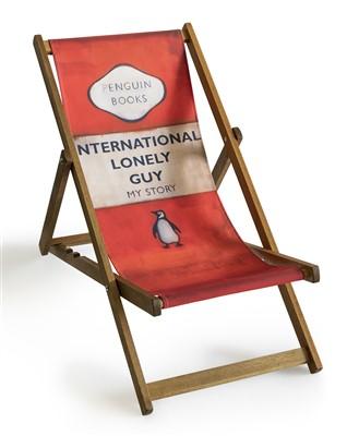 Lot 34 - Harland Miller (British b.1964), 'International Lonely Guy (Deck Chair)', 2013