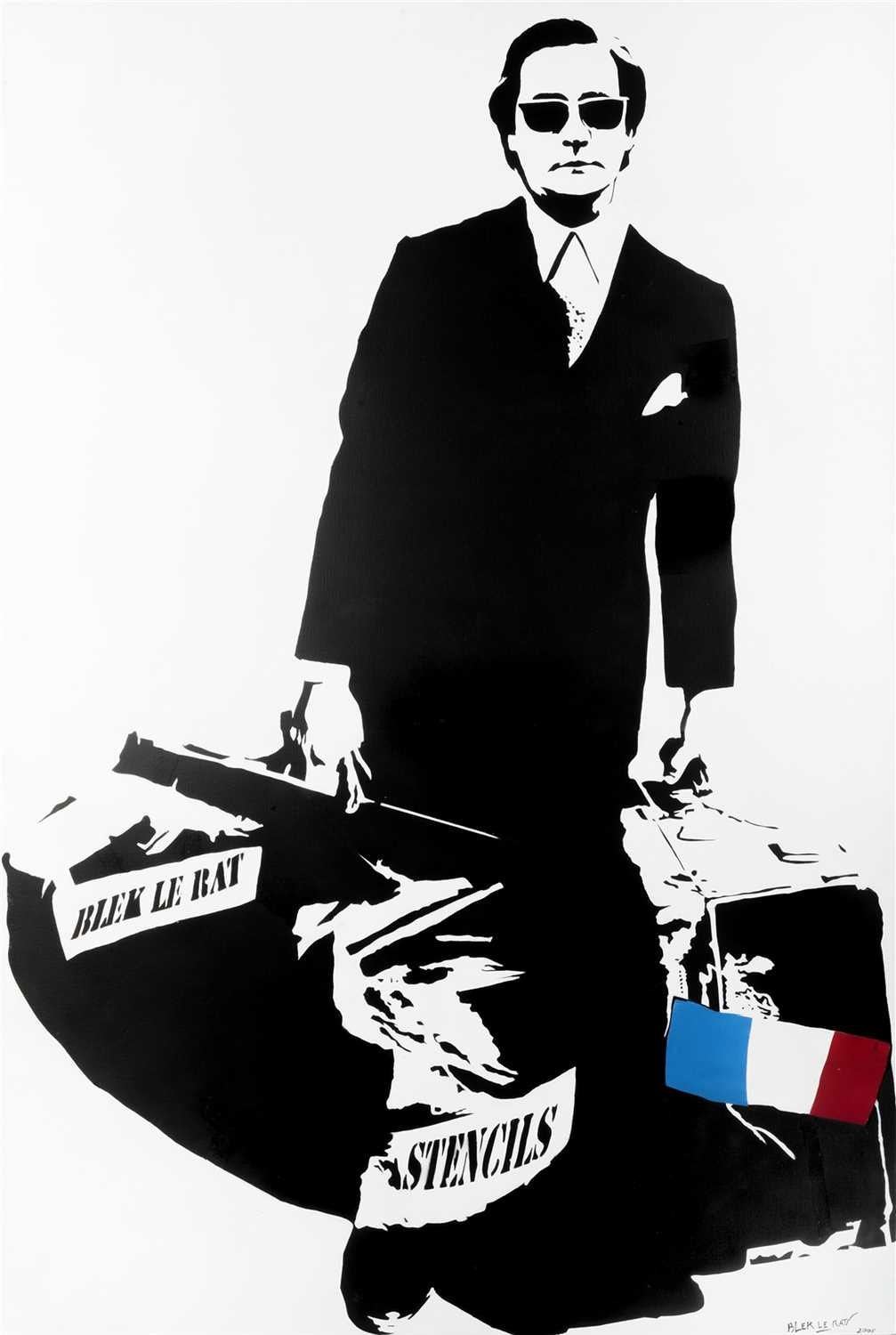 Lot 386-Blek Le Rat (French b.1951), 'Man Who Walks Through Walls', 2006