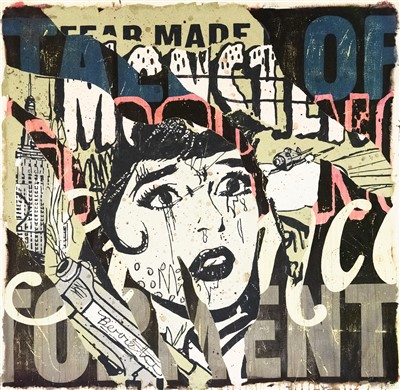 393 - Faile (Collaboration) 'Tales Of Torment', 2006, unique