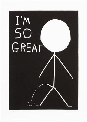 Lot 41 - David Shrigley (British b.1968), 'I'm So Great', 2014
