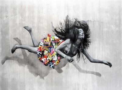 421 - Martin Whatson & Snik (Collaboration), 'Falling Girl', 2016
