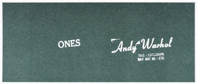 Lot 4-Andy Warhol (American 1928-1987), 'Andy Warhol Art Cash (Ones)', 1971