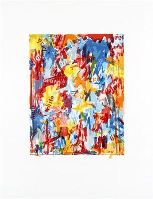 Lot 57 - Jasper Johns (American b.1930), 'False Start I, Flase Start II & Painting With Two Balls I', 1962
