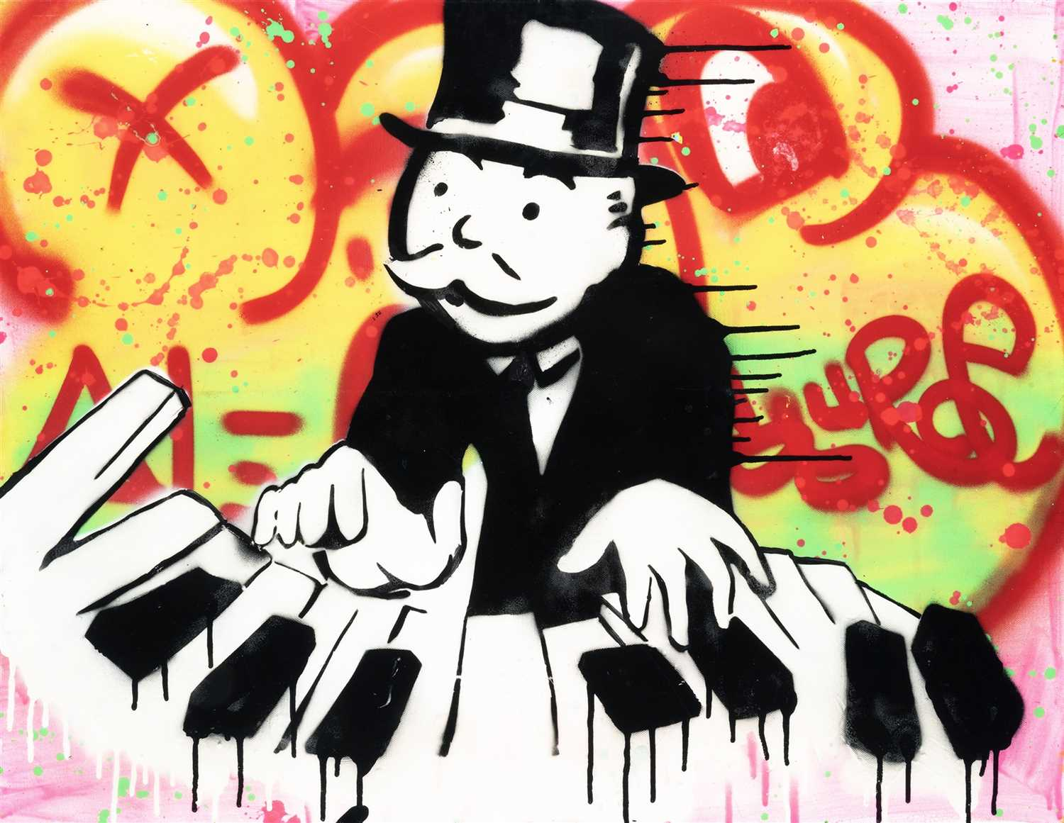 Lot 370-Alec Monopoly (American b.1986), 'Piano Player', 2011