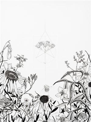 Lot 60 - Jessica Albarn & Ben Murphy, 'Malu Quo Commonius Eo Peius (Bumble Bee With Meadow Flower), 2019