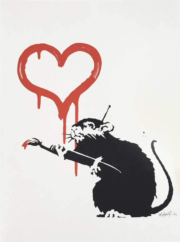 Lot 378 - Banksy (British b.1974), 'Love Rat', 2004