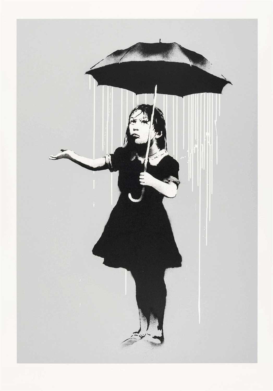 Lot 380-Banksy (British b.1974), 'NOLA (White Rain)', 2008