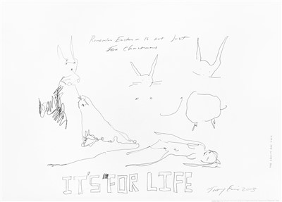 Lot 75 - Tracey Emin (British b.1963), 'Rabbits, It's For Life', 2005