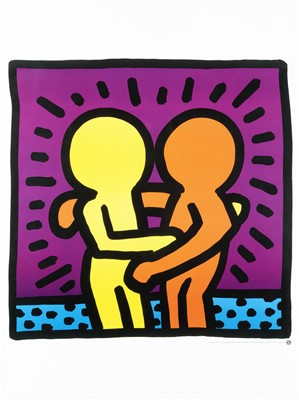 Lot 51 - Keith Haring (American 1958-1990), 'Untitled (Best Buddies)', 1987
