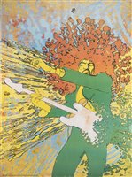 Lot 98 - Martin Sharp (Australian 1942-2013), 'Jimi Hendrix Explosion', 1968