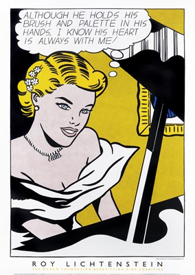 Lot 61 - Roy Lichtenstein (American 1923-1997), 'Girl At Piano - 1963', 1997