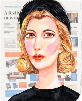 Lot 68 - Stella Vine (British b.1969), 'Jeanne Black Feather Hat', 2015