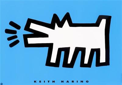 Lot 50 - Keith Haring (American 1958-1990), 'Barking Dog', 1994