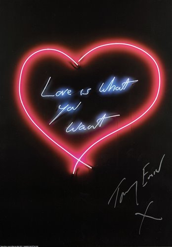 432 - Tracey Emin (British b.1963), 'The Neons', a complete set of seven offset lithographs in colours