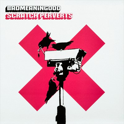 Lot 66 - Banksy (British 1974-), 'Badmeaninggood - Scratch Perverts', 2003