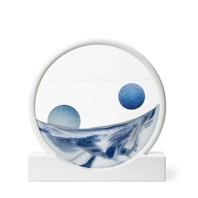 Lot 22 - Daniel Arsham (American b.1980), 'Sand Circle Blue'