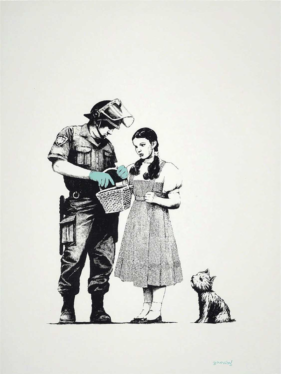 "376 - Banksy (British b.1974),"" Stop and Search """