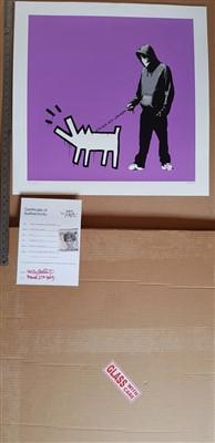 Lot 384-Banksy (British b.1974), Choose Your Weapon (Bright Purple)