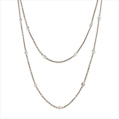 Lot 2-A diamond necklace.
