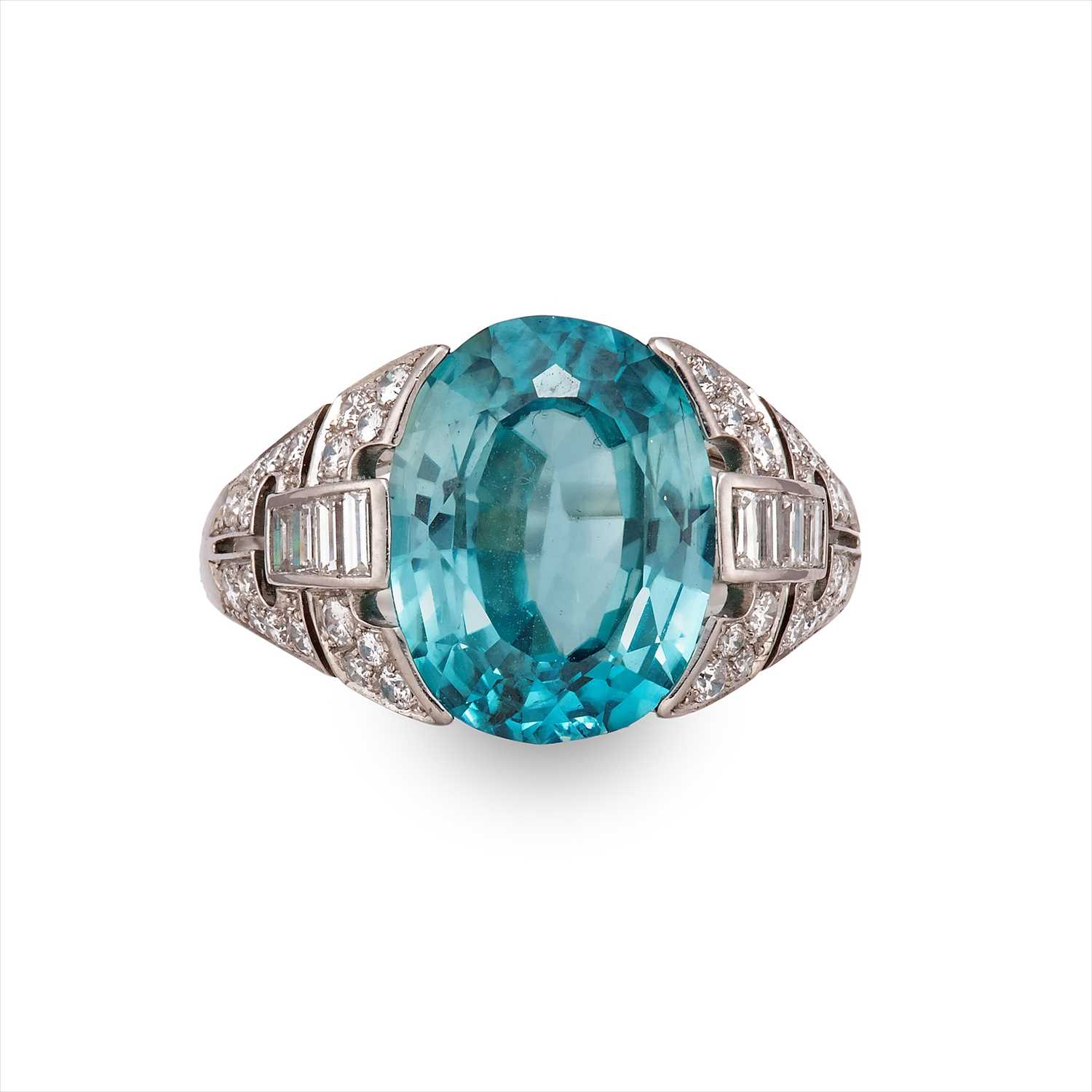 Lot 26-A zircon and diamond dress ring.