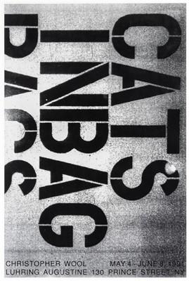 Lot 10-Christoper Wool (American b.1955) , 'Cats In A Bag', 1991