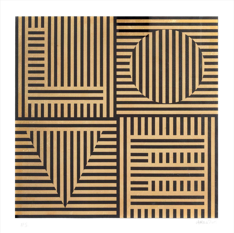 Lot 12-Carl Cashman (British), 'Love Hurts (Gold Leaf)', 2015