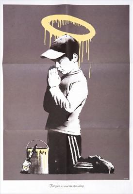 Lot 52-Banksy (British 1974-), 'Forgive Us Our Trespassing', 2010