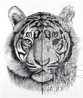 Lot 147 - Ardif (French b.1986), 'Tiger Mechanimal', 2018
