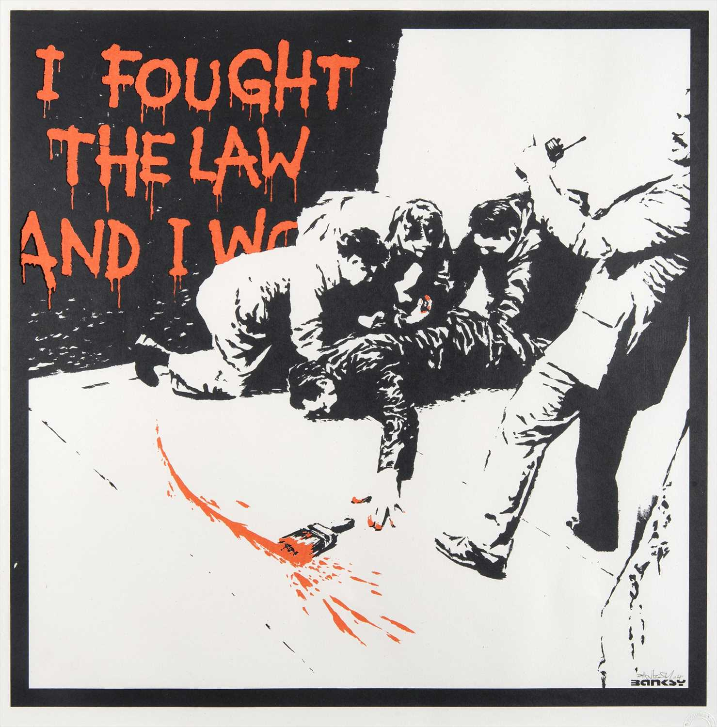 Lot 67 - Banksy (British 1974-), 'I Fought The Law', 2004