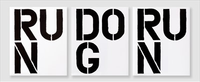 Lot 12-Christopher Wool (American 1955-), 'Run Dog Run', 1989 (three works)