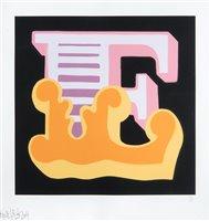 Lot 163 - Ben Eine (British b.1970), 'E (Orange)', 2014