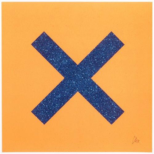 Lot 24 - Chris Levine (British b.1960), 'Marks The Spot (Blue On Orange)', 2018