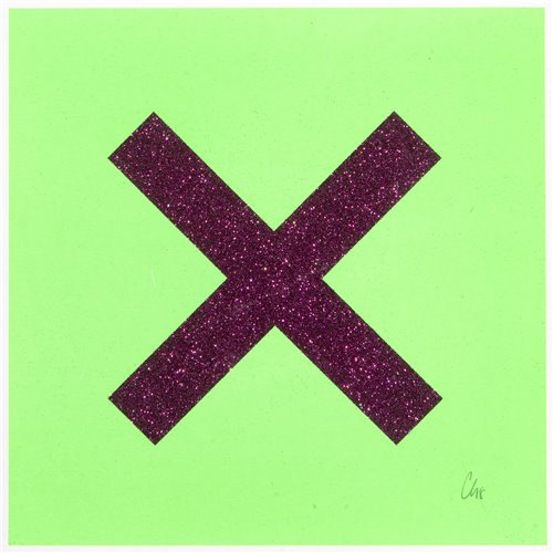 Lot 27 - Chris Levine (British b.1960), 'Marks The Spot (Purple On Green)', 2018