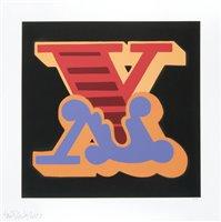 Lot 167 - Ben Eine (British b.1970), 'X (Yellow, Pink & Purple)', 2015