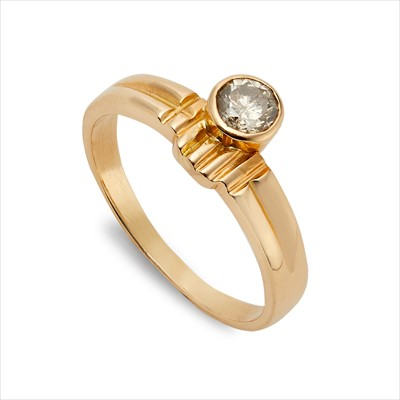 Lot 11-A diamond single-stone ring.