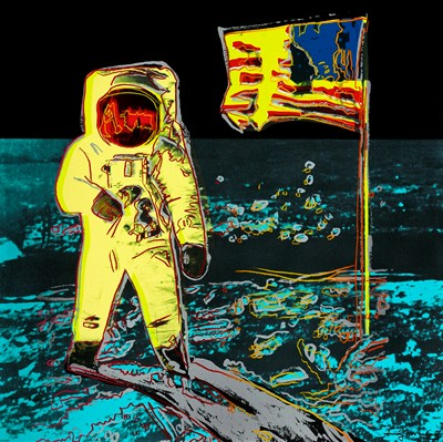 Lot 5-Andy Warhol (American 1928-1987), 'Moonwalk 404 Yellow', 1987
