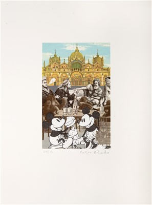 Lot 93 - Peter Blake (British b.1932), 'Venice Fantasies, De Luxe', 2009 & 'Mickey's Birthday Party'