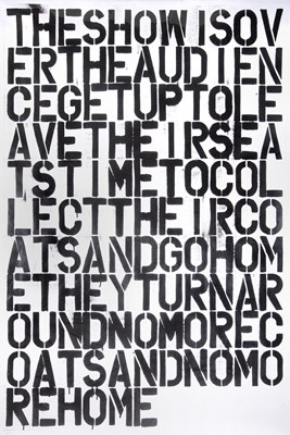 Lot 9-Christopher Wool (After), 'The Show Is Over'
