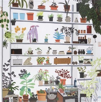Lot 79 - Jonas Wood (American b.1977), 'Large Shelf Still Life Poster', 2017