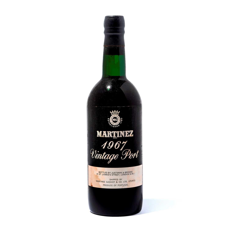 Lot 4-9 bottles 1967 Martinez