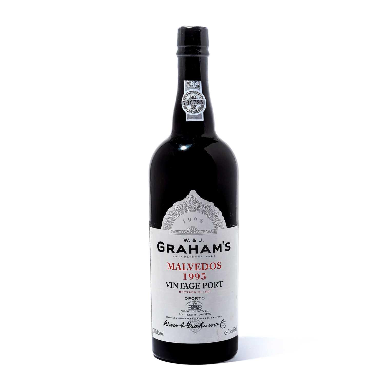Lot 5-12 bottles 1995 Graham Malvedos