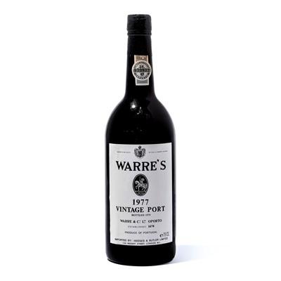 Lot 8-12 bottles 1977 Warre