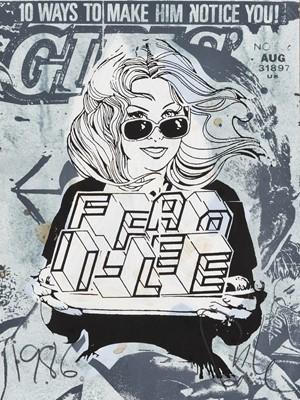 Lot 86 - Faile (Collaboration), 'Faile Girl', 2007