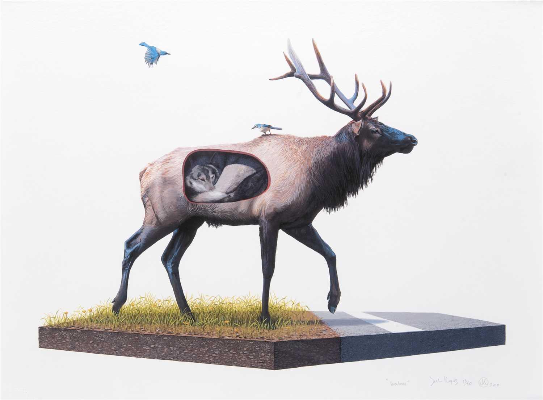 Lot 81 - Josh Keyes (American b.1969), 'Incubate', 2010