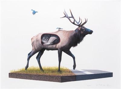 Lot 72 - Josh Keyes (American b.1969), 'Incubate', 2010